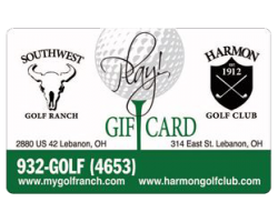 Southwest Golf Ranch and Harmon Golf Club Buy $100 Gift Card, Get $20 Bonus Free. Buy $200 Gift Card, Get $40 Bonus Free.