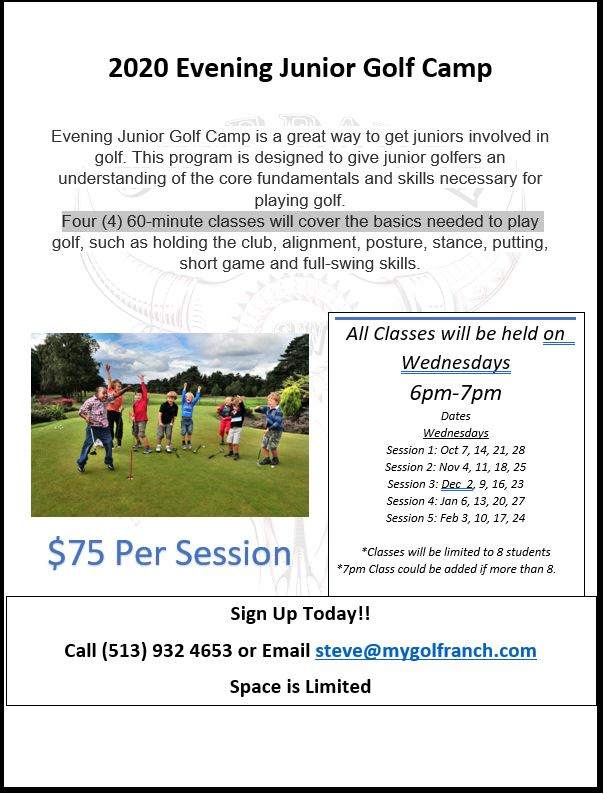 2020 evening golf camp