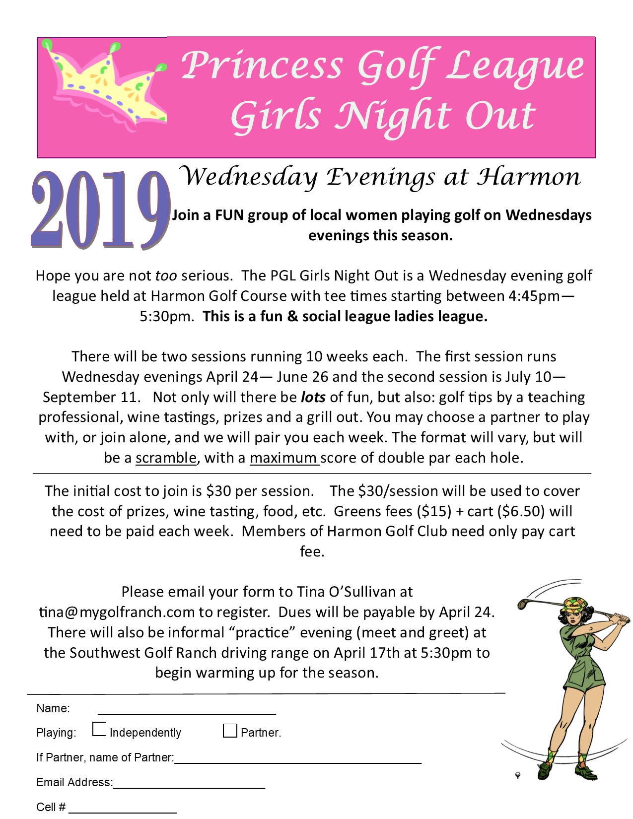 Princess Golf League 2019