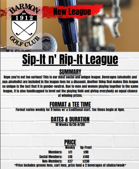 Friday Night Sip It And Rip It League