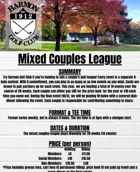 Saturday Night Mixed Couples League